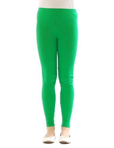 Kinder Mädchen Leggings lang blickdicht aus Baumwolle Hose Jungen Grün 98 (Grün Jungen Kinder)