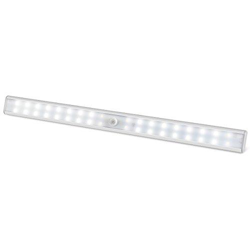 1byone Lampe LED Capteurs de Mouvement, Rechargeables avec une Barre de 36 LED de Nuit avec Bande Magnétique pour Armoire, Meuble de Rangement, WC, Salle de Bains, Hall, Buanderie.