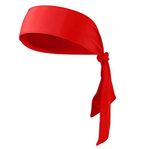 Stirnband Krawatte Stirnband für den Lauf trainieren Tennis Karate Leichtathletik Piraten Kostüme (rot) ()