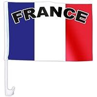 Set di 50 bandierine francesi (AFL-03a) per la macchina bandiera francia france decorazione macchina tifosi calcio europei mondiali les bleus coppa europa sintetico estate festa eventi