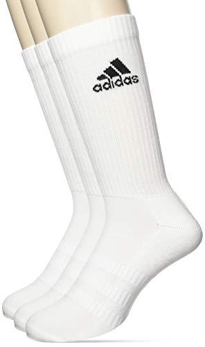adidas 3 Paar Cushion Crew Socken, White/White/Black, L