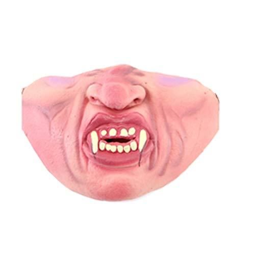 Newin Star Lustige halbe Gesichtsmaske Latex Halloween SChreckliche -