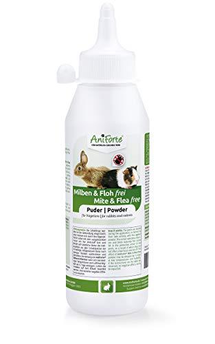 AniForte Milben und Floh Frei Pulver 250ml für Meerschweinchen, Kaninchen, Nager und Kleintiere - Abwehr von Milben, Flöhen, Insekten, Parasiten und Ungeziefer