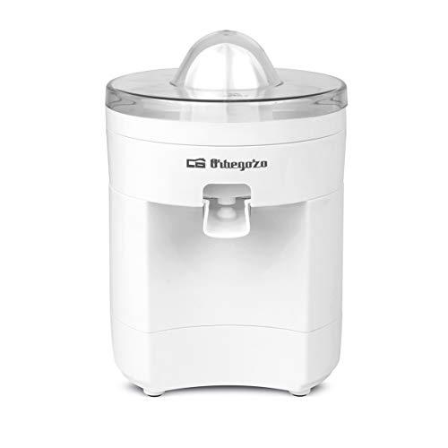 Orbegozo EP 2500 - Exprimidor zumo eléctrico de naranjas, 2 conos para piezas de distinto tamaño, sistema antigoteo, 100 W de potencia