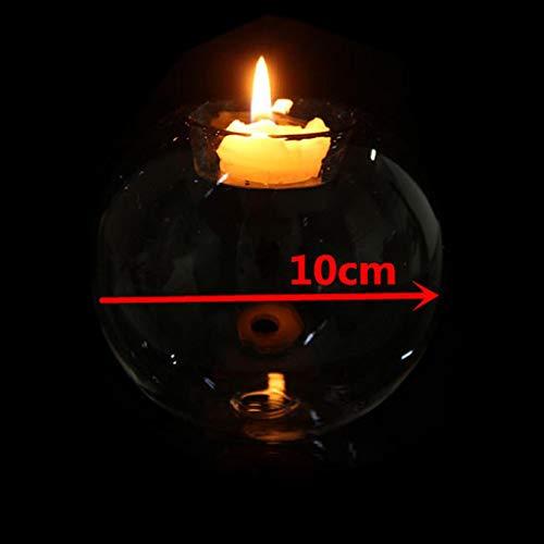 Hergon Romantischer Kristallglas-Kerzenhalter, Kerzenhalter, Halloween-Party, Weihnachtsdekoration (Charting-tools)