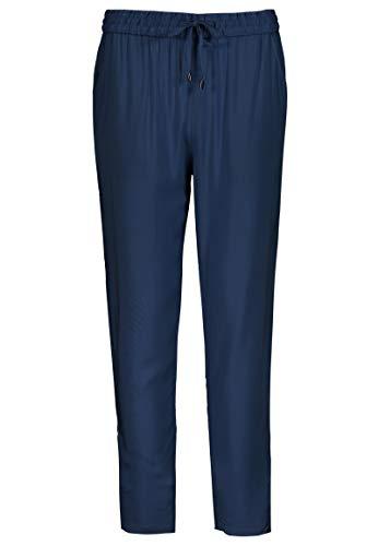 Sublevel Damen Stoffhose mit Bindegürtel aus Viskose Dark-Blue L