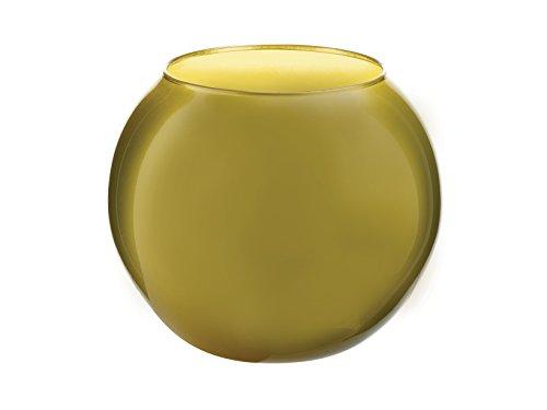 PASABAHCE vase en céramique de prestige rouge brillant
