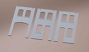 Auhagen 1/87 ho: Fachadas Llanura de Yeso - con Aberturas de Puertas y Ventanas
