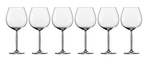 Schott Zwiesel Diva 6-teiliges Burgunder Rotweinkelch Set Rotweinglas, Glas, transparent, 36.8 x 25.2 x 25.9 cm, 6-Einheiten