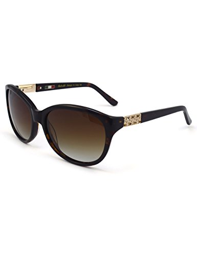 Women Sunglasses Polarized with Butterfly shape UV Protective Rhinestone designer Sunglasses (Havana, Gradient Brown)