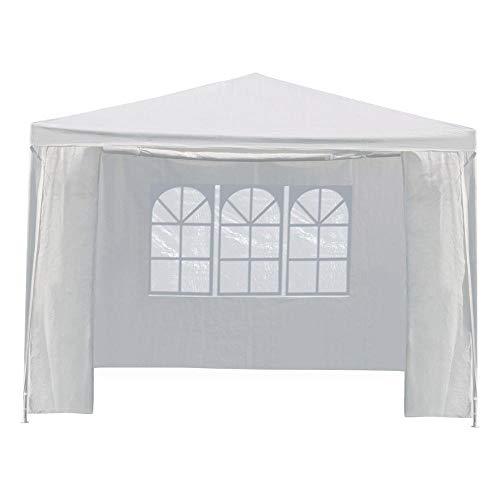 Yaheetech Pavillon Partyzelt mit Seitenteilen, Gartenpavillon, Party- und Festzelt, Camping- und Festival-Zelt, für Garten Terrasse Feier Markt wasserdichtes Dach 3 x 3 m Weiss