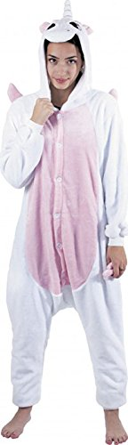 Party-Pro-862301-Kigurumi-Pyjamas-ou-dguisement-Unisexe-Adulte-Licorne-blanche-et-rose