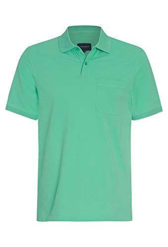 Basic Polo Pique Shirt mit Brusttasche hellgrün,XXL