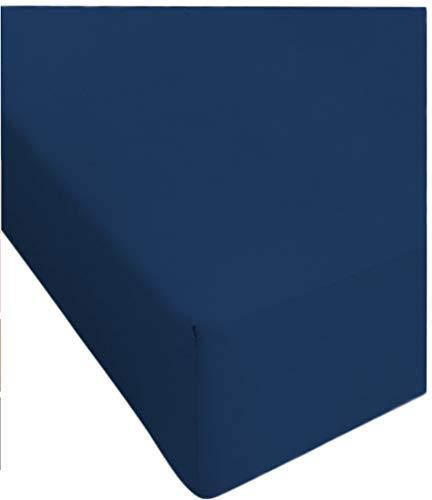 Centesimo web shop lenzuolo sotto 160x190 cm matrimoniale no stiro 6 colori 160 x 190 cm due posti microfibra due piazze m8-160x190 cm blu