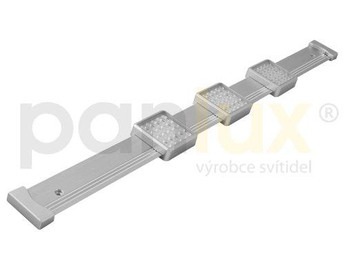 panlux bl0902/T Mayor 3x 25LED Cuisine Lampe 3000K, métal, 6W, Argent, 90x 4,4x 1,6cm