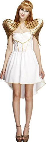 (Frauen Fancy Party Kleid Ausgehen Sexy Fever Glamorous Engel Kostüm Outfit, Weiß)