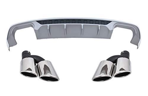 KITT CORDAUA38VFSNTY Paraurti Posteriore Valance Diffusore Marmitta Punte Sedan/Convertible 16-19 Standard Bumper (SE) Design