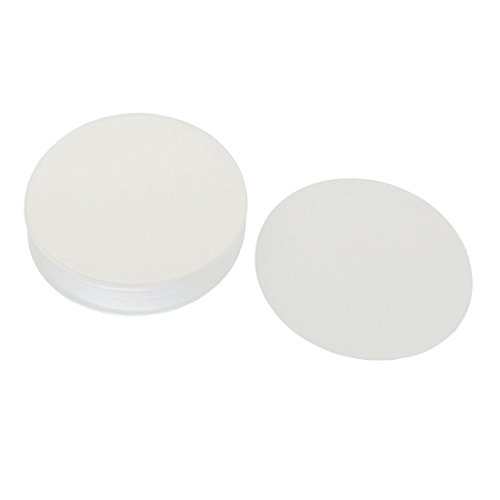 sourcingmap® 100pcs 11cm Dia Discs Medium Flow Rate 102 Qualitative Filter Paper