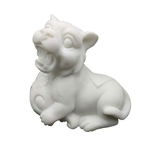 LINGS Tiger Statuen weißer Marmor Stein Wächter, chinesisches Sternzeichen Feng Shui Dekor, für Haus und Büro Reichtum und viel Glück anziehen, Beste Einweihungsparty Glückwunschgeschenk - Feng Shui Marmor