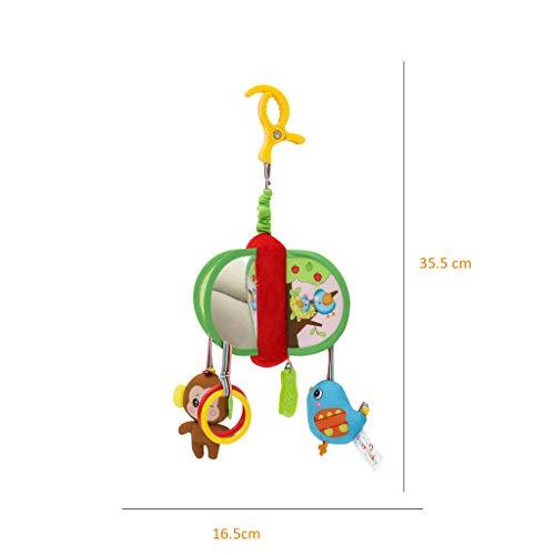 Mitlfuny Unisex Baby Kinder Jungen Zubehör Säuglingspflege,Baby Bettwäsche Krippe Musical Mobile mit hängenden rotierenden weichen bunten Plüschpuppen