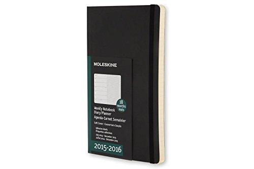 Moleskine 18 Monate Wochen-Notizkalender/Taschenkalender 2015/2016, A5, Soft Cover, schwarz (2015 Weekly Notebook)