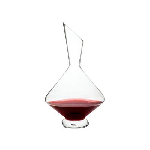 BABIFIS Decantador de Vino de 250 ML, decantador soplado de Boca de Lujo con Corte Oblicuo de Cristal, Mayor claridad y Borde Reforzado para Mayor Durabilidad