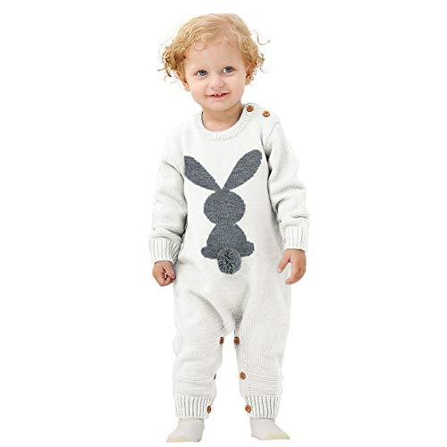 iBaste Baby Overalls Baby Jumpsuits Kinder Mädchen Jungen Overalls Baby Gestrickte Cartoon Kaninchen Overall Baby Pullover Kleinkind Overalls Bunny Strampler für Kleinkinder