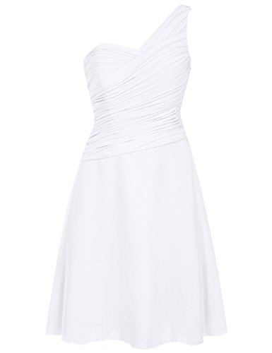 HUINI Damen Kleid Weiß