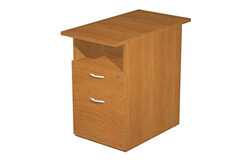 Kommode complanare am Schreibtisch mit einer Schublade und einer Schublade Ordnungsmappe, feste Kommode mit Schloss, Kommode Finish Walnuss (Schreibtisch Walnuss-finish,)
