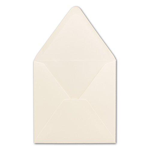 15 Creme (50 Quadratische Briefumschläge Creme 15,0 x 15,0 cm 120 g/m² Nassklebung Post-Umschläge ohne Fenster ideal für Weihnachten Grußkarten Einladungen von Ihrem Glüxx-Agent)