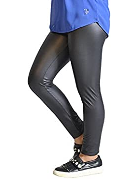 Leggings Pelle Bambina | Pantaloni Finta Pelle Bimba | 4, 6, 8, 10, 12 Anni | Made In Italy |