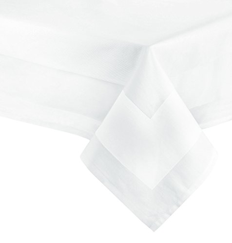 ZOLLNER Nappe de Table en Coton, Blanc, 180x180 cm (Autres Disponibles)