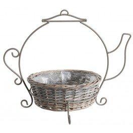 Pot de thé en forme de panier