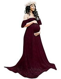 disponibilità nel Regno Unito c8d06 c1e2c Amazon.it: vestito rosso lungo - Abbigliamento premaman ...