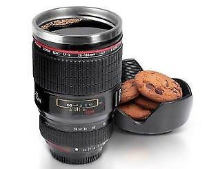 Damastoreitalia tazza bicchiere a forma obiettivo fotocamera macchina fotografica cuplens 24-105mm portabiscotti colazione caffe' the cappuccino latte