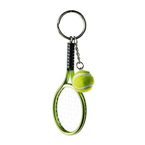 Billty Schlüsselanhänger Tennis Schlüsselanhänger Handtasche Auto Handy Anhänger Dekoration klein Souvenir Geburtstag Geschenk, Legierung, grün, 3.7 * 12cm
