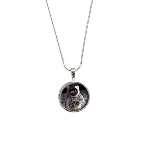 Apollo 11 Moon Landing - Astronaut Space Pendant with Sterling Silver Plated Chain