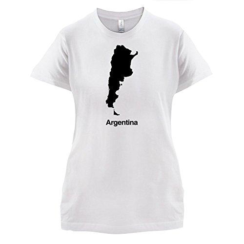 Argentina / Argentinien Silhouette - Damen T-Shirt - 14 Farben Weiß