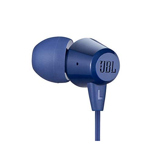 JBL C50HI in-Ear Headphones with Mic (Blue) Image 4
