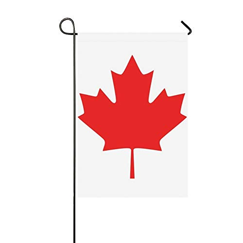 JOCHUAN Wohnkultur Kanada Flag Icon Garten Flaghouse Yard Flaggarden Yard Decorationsseasonal Willkommen Outdoor Flagge 12X18 Zoll