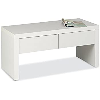 garderobenbank sitzbank schuhbank devon wei hochglanz 2 schubk sten k che. Black Bedroom Furniture Sets. Home Design Ideas