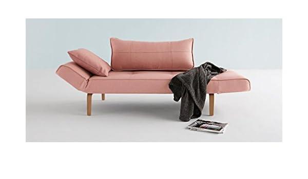 Divano Letto Curvo : Innova tion zeal divano letto rosa con piedino in legno chiaro curvo