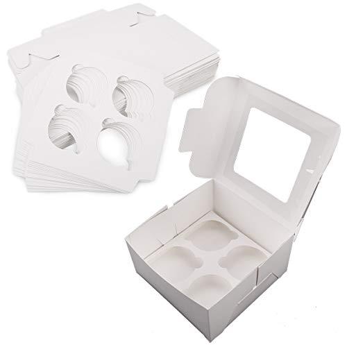 *Versand aus Deutschland' 25 Sets Cupcake Box Cupcake Koffer Kasten für Cupcakes Muffin Törtchen...