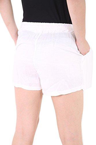 ROCKBERRY Damen Short Weiß