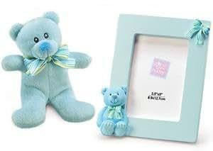 Russ Berrie My First Teddy Bear & Frame, 2-Set ours en peluche et un cadre photo, bleu russ-35419