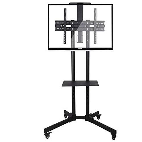 CRZJ TV Fernseher Ständer Höhenverstellbar TV Mobile Ständer, Geeignet für 32-65 Zoll LCD-Fernseher. Mit Zwei Fächern Schwarz