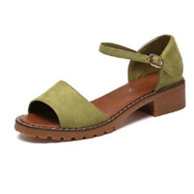 SANMULYH Scarpe Donna Pu Comfort Estivo Sandali Punta Tonda Per Casual Verde Grigio Bianco Nero Verde