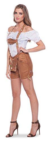 Folat 63307 - Lederhosen für die Frau, L/XL, braun