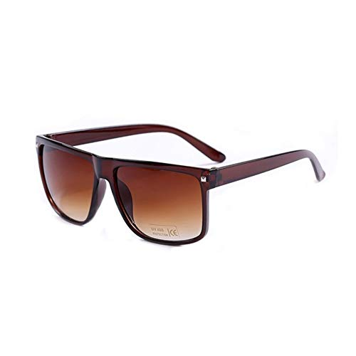 Klassische Sonnenbrille In Braun Und Schwarz Rechteckige Unisex-Sonnenbrille For Damen Mode Herren Brillen Oculos De Sol (Color : A)