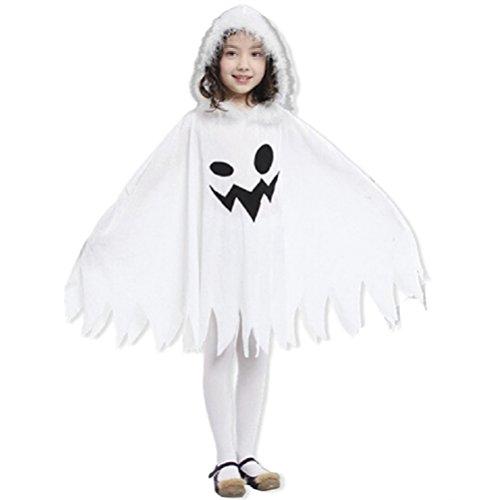 (BESTOYARD Halloween Cosplay Geist Mantel Kostüm Kleid Party Mantel Baby Mädchen Kleidung (weiß))